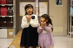 2月7日日曜日オンラインファッションショー 倉石りいなちゃんが登場してくれました。
